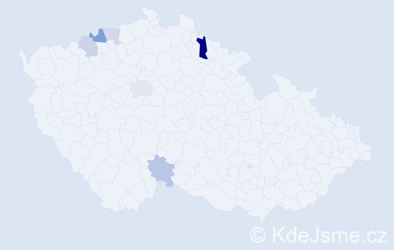 Příjmení: 'Gulíková', počet výskytů 12 v celé ČR