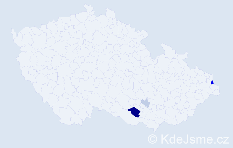 Příjmení: 'Drzymalla', počet výskytů 3 v celé ČR
