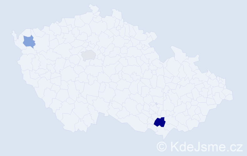 Příjmení: 'Godany', počet výskytů 4 v celé ČR