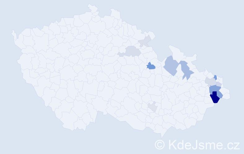Příjmení: 'Glembek', počet výskytů 38 v celé ČR