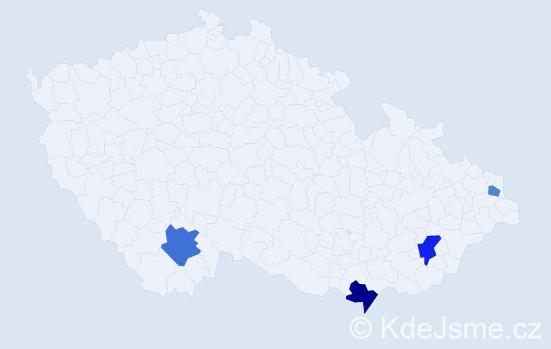 Příjmení: 'Dobša', počet výskytů 11 v celé ČR