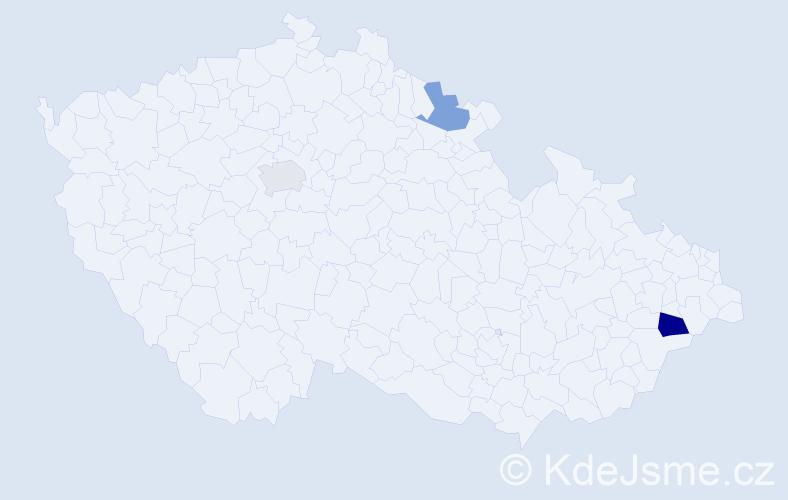 Příjmení: 'Goerke', počet výskytů 4 v celé ČR