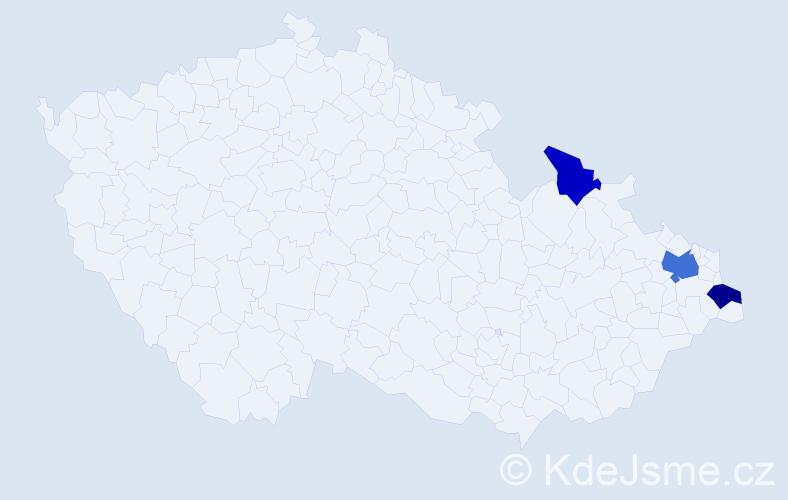Příjmení: 'Godfryd', počet výskytů 11 v celé ČR