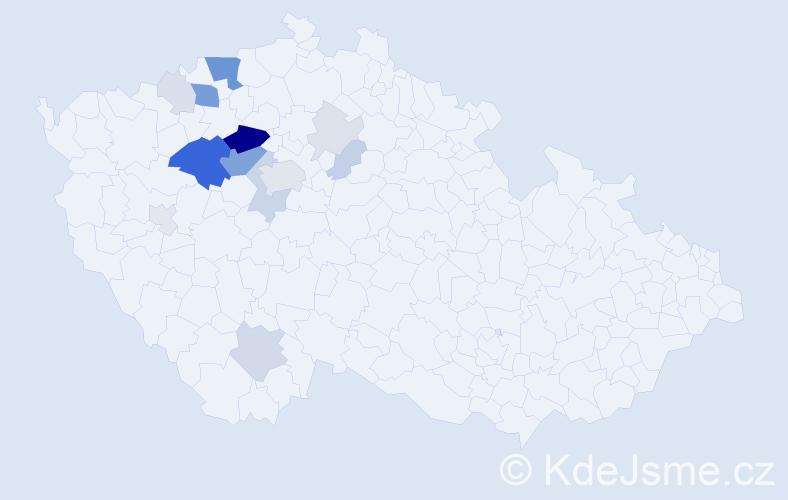 Příjmení: 'Erba', počet výskytů 56 v celé ČR