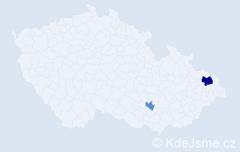 Příjmení: 'Eltom', počet výskytů 3 v celé ČR