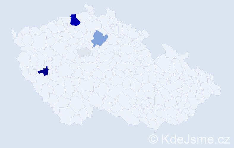 Příjmení: 'Lepi', počet výskytů 7 v celé ČR