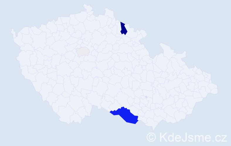 Příjmení: 'Ensingerová', počet výskytů 10 v celé ČR