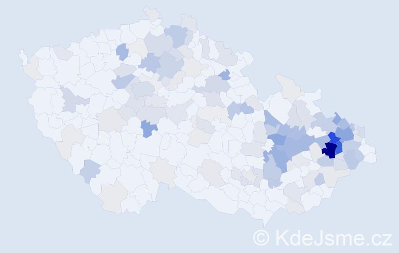 Příjmení: 'Klosová', počet výskytů 491 v celé ČR