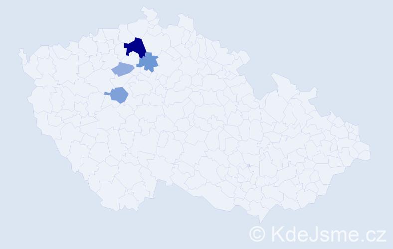 Příjmení: 'Beruška', počet výskytů 13 v celé ČR