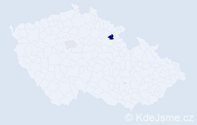 Příjmení: 'Janowska', počet výskytů 4 v celé ČR
