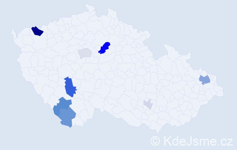 Příjmení: 'Balco', počet výskytů 14 v celé ČR