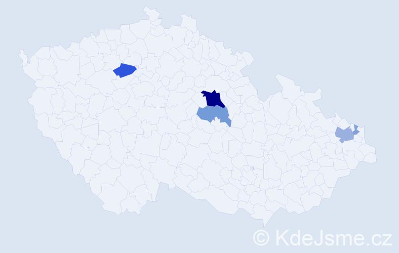 Příjmení: 'Halatka', počet výskytů 16 v celé ČR