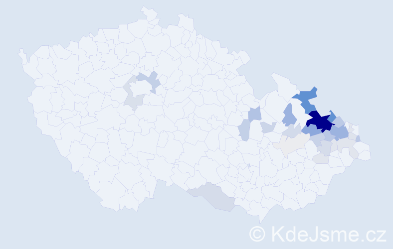 Příjmení: 'Dehner', počet výskytů 139 v celé ČR