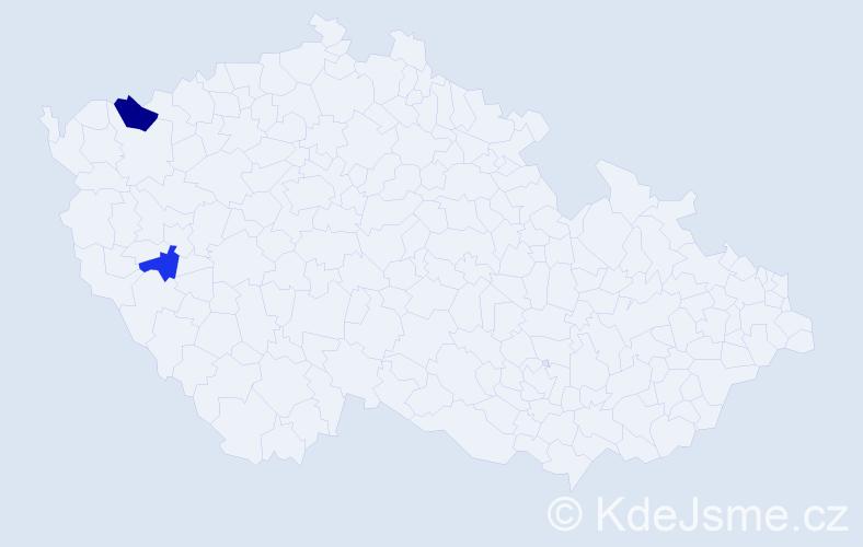 Příjmení: 'Bábala', počet výskytů 3 v celé ČR