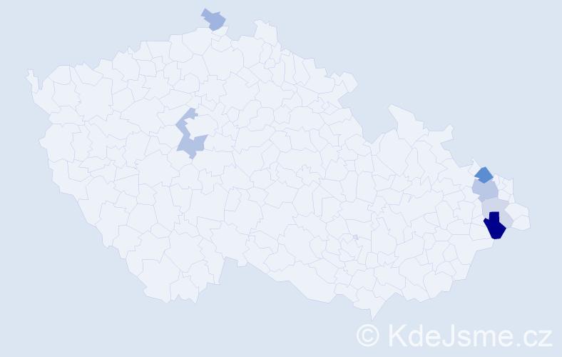 Příjmení: 'Izvorský', počet výskytů 15 v celé ČR
