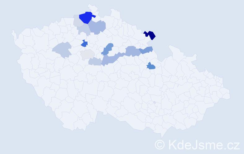 Příjmení: 'Khop', počet výskytů 34 v celé ČR