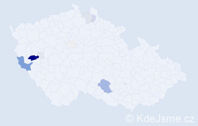 Příjmení: 'Ibehejová', počet výskytů 16 v celé ČR