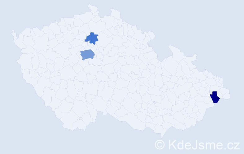Příjmení: 'Erikssonová', počet výskytů 11 v celé ČR