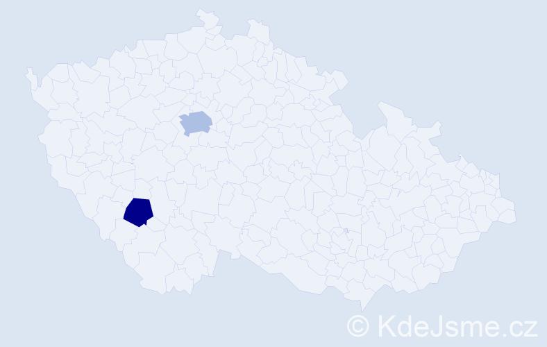 Příjmení: 'Andrieu', počet výskytů 3 v celé ČR