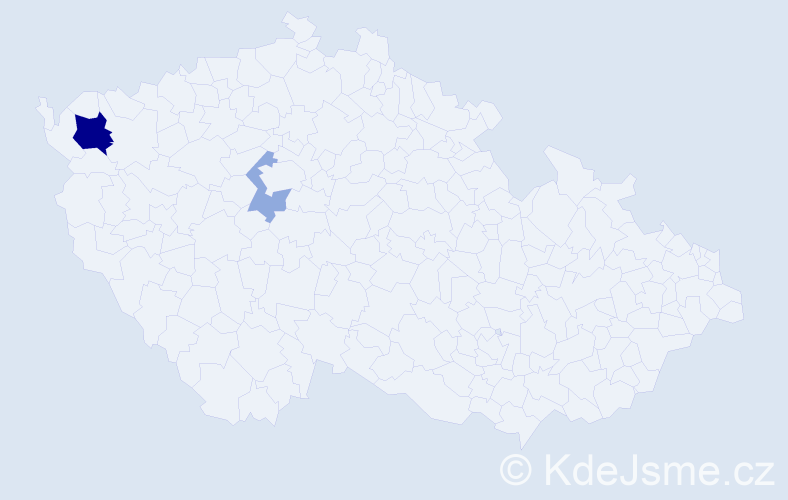 Příjmení: 'Andreánská', počet výskytů 5 v celé ČR