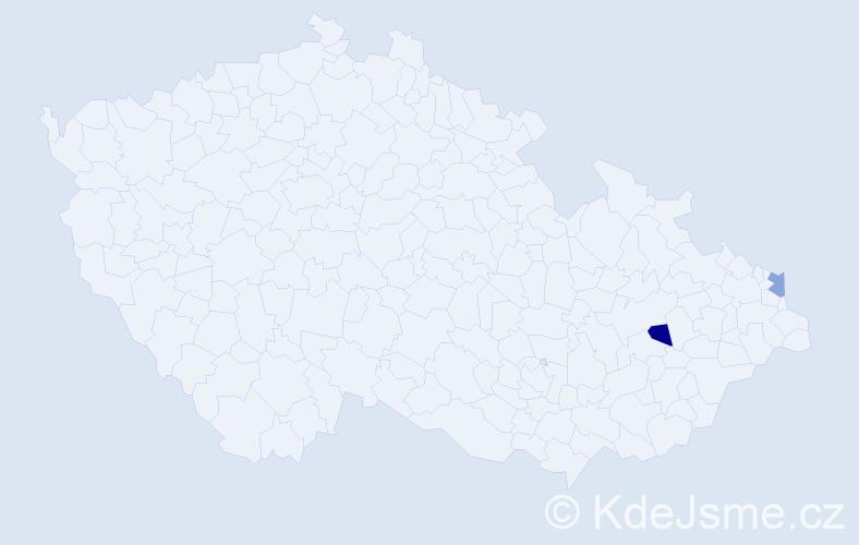 Příjmení: 'Byrski', počet výskytů 2 v celé ČR