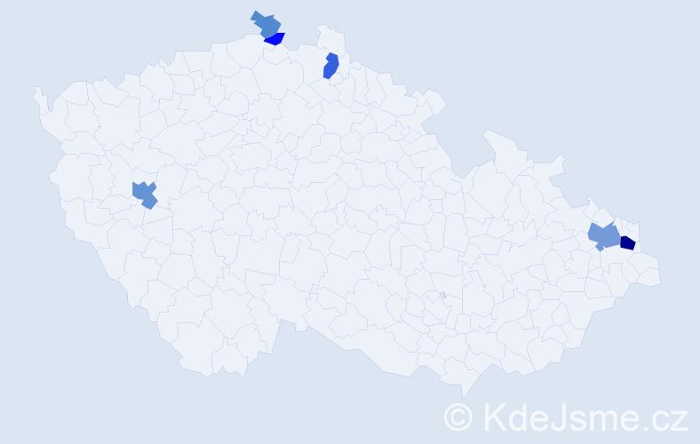 Příjmení: 'Andrušková', počet výskytů 16 v celé ČR