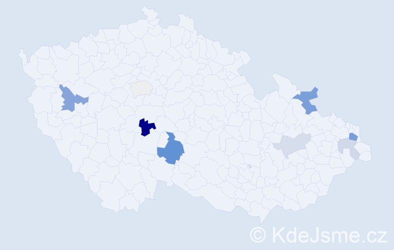 Příjmení: 'Glejtek', počet výskytů 16 v celé ČR