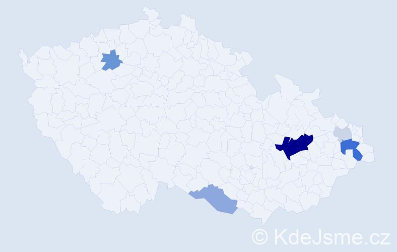 Příjmení: 'Karasková', počet výskytů 13 v celé ČR