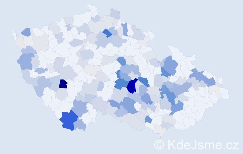Příjmení: 'Augustin', počet výskytů 593 v celé ČR