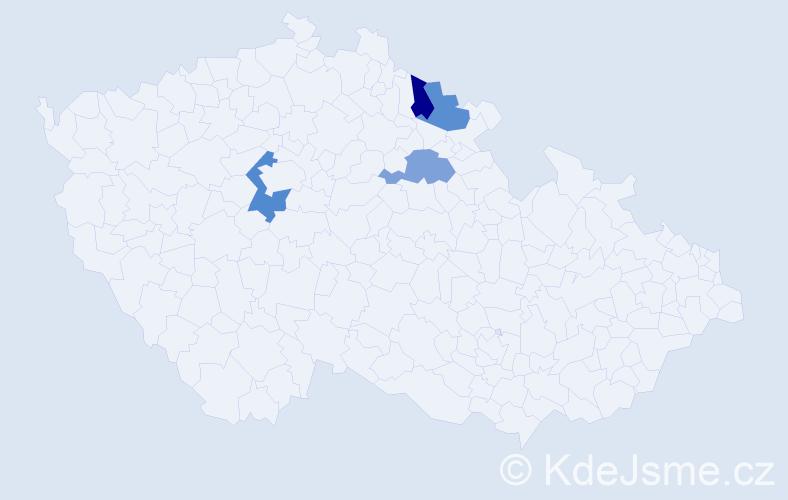 Příjmení: 'Herbs', počet výskytů 9 v celé ČR