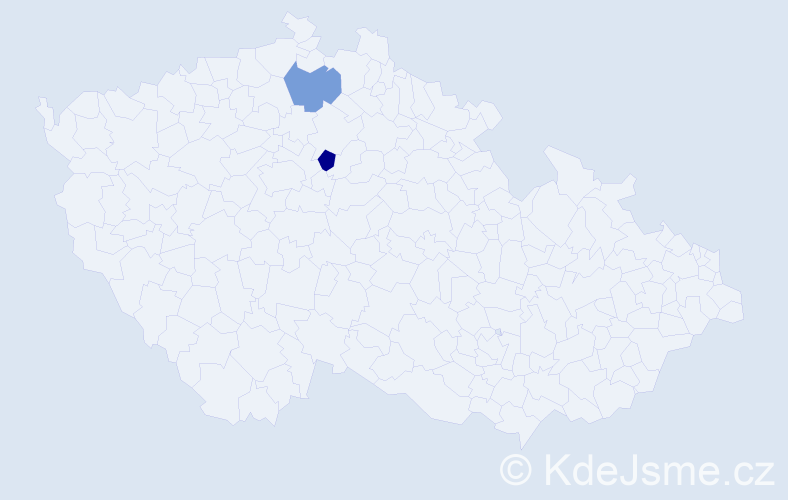 Příjmení: 'Čekanov', počet výskytů 2 v celé ČR