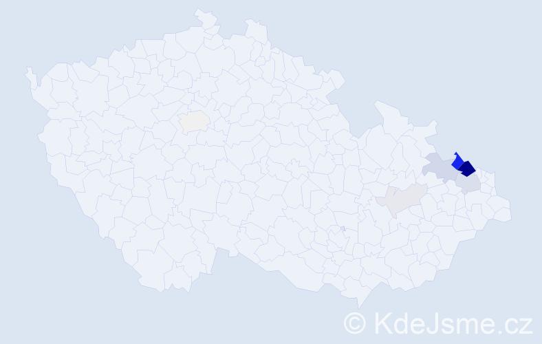 Příjmení: 'Dombková', počet výskytů 55 v celé ČR
