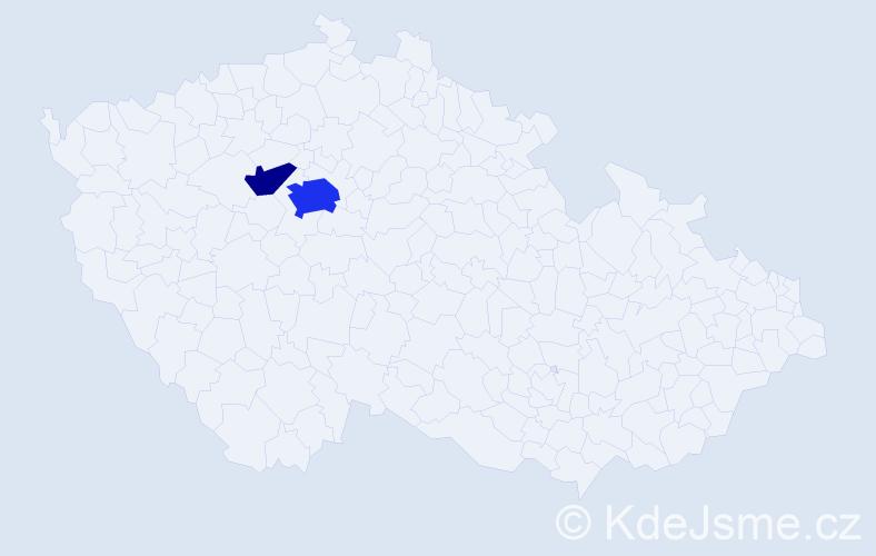 Příjmení: 'Karkovská', počet výskytů 6 v celé ČR