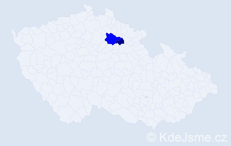 Příjmení: 'Gocevová', počet výskytů 3 v celé ČR
