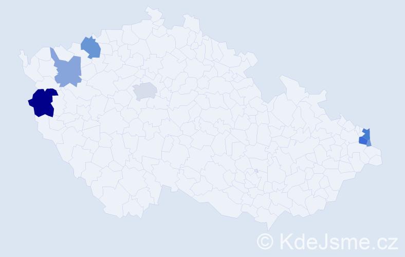 Příjmení: 'Fénešová', počet výskytů 23 v celé ČR