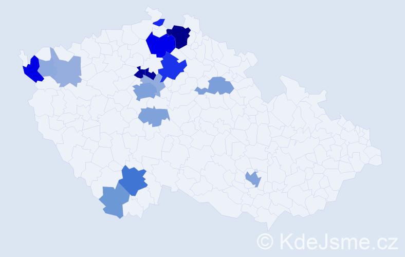 Příjmení: 'Bavorová', počet výskytů 50 v celé ČR