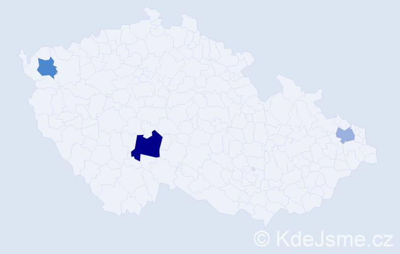 Příjmení: 'Eviak', počet výskytů 4 v celé ČR