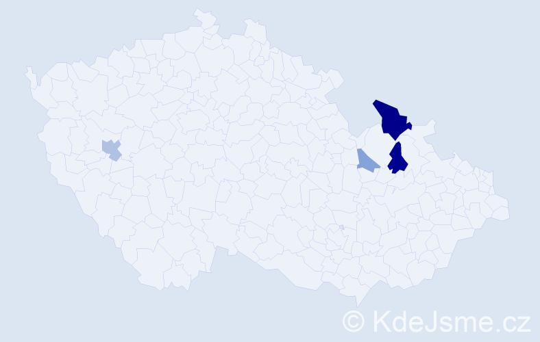 Příjmení: 'Ceperko', počet výskytů 10 v celé ČR