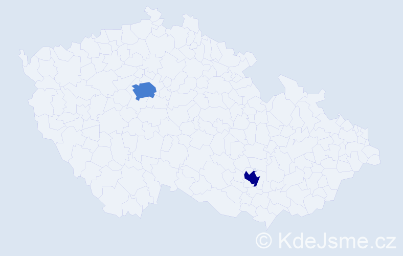 Příjmení: 'Girlová', počet výskytů 5 v celé ČR