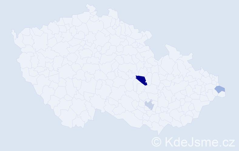 Příjmení: 'Faustka', počet výskytů 5 v celé ČR