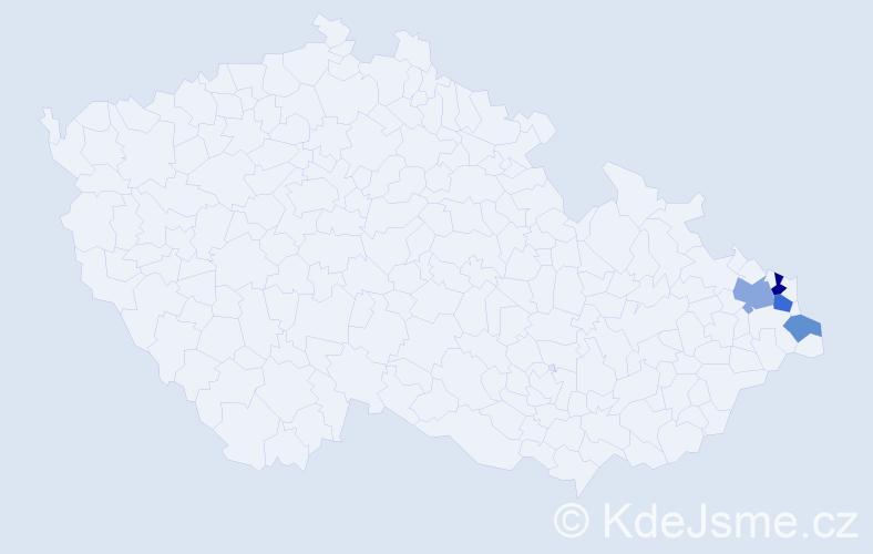 Příjmení: 'Čintala', počet výskytů 7 v celé ČR