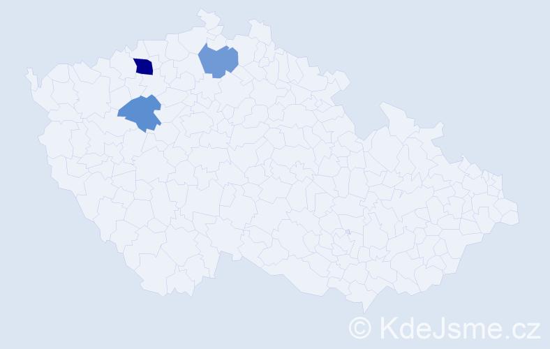 Příjmení: 'Eisenmayer', počet výskytů 5 v celé ČR