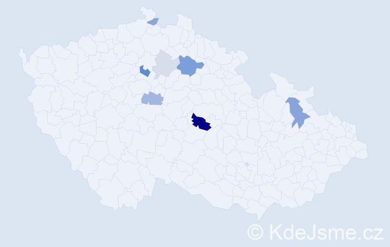 Příjmení: 'Ďörď', počet výskytů 17 v celé ČR