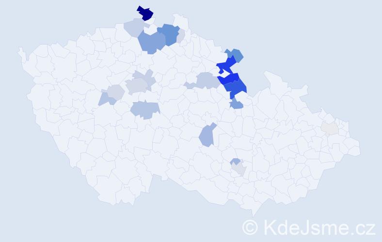 Příjmení: 'Lemfeld', počet výskytů 83 v celé ČR