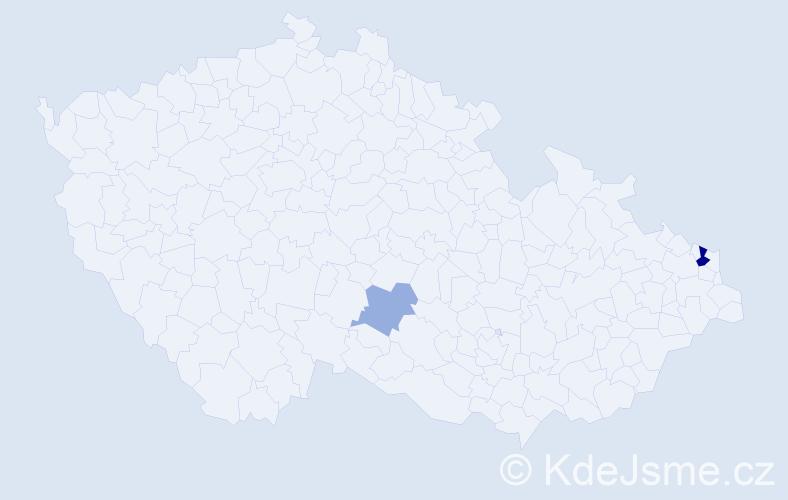 Příjmení: 'Maglione', počet výskytů 4 v celé ČR