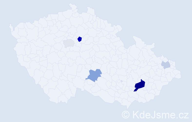 Příjmení: 'Karamon', počet výskytů 22 v celé ČR