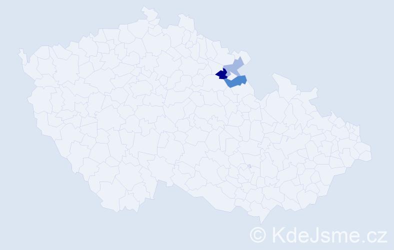 Příjmení: 'Ivaniecová', počet výskytů 4 v celé ČR