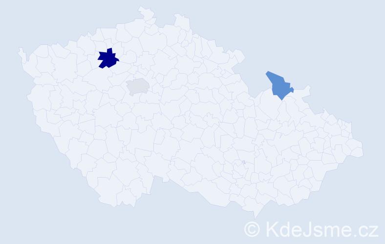 Příjmení: 'Ďurajová', počet výskytů 10 v celé ČR