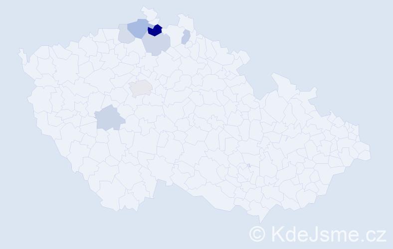 Příjmení: 'Laipold', počet výskytů 14 v celé ČR