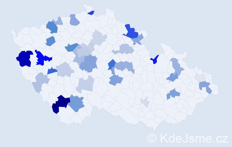 Příjmení: 'Jančovičová', počet výskytů 89 v celé ČR